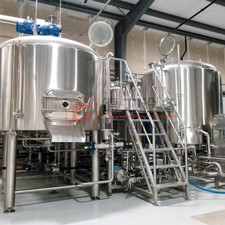 Three Vessels 2000L Commercial Brewing System Brewhouse Free Combination Side Manhole Fermentation Tank Near Me