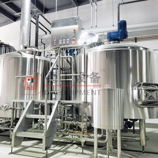 Built 3-vessel Brewhouse System 7BBL Complete Beer Brewing Line with Beer Fermenter for Sale