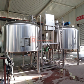 600L Beer Brewery System Used 2 Tank Beer Mash Brew Kettle And Stainless Steel Beer Fermentation Tank