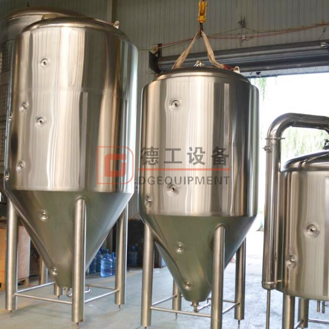 Built a customized beer brewing tanks cellar tank 10HL stainless fermentation tank brite beer tank for restaurant