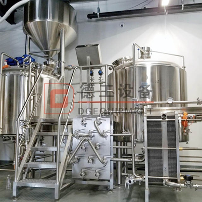 600L Beer Brewery Equipment Mirror Polish 100% TIG Welding 2-vessel Brewhouse for Beer Production