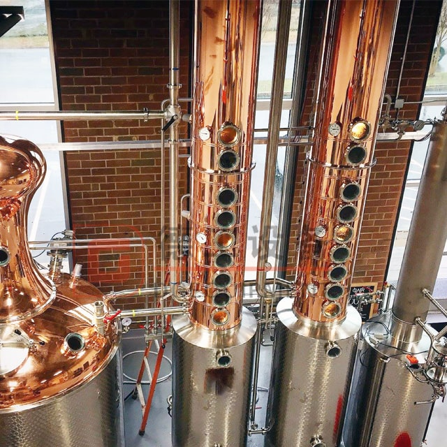 Normal 300gal Distilling Equipment Red Copper Or Stainless Steel 304/316 Column Onion Head for Sale