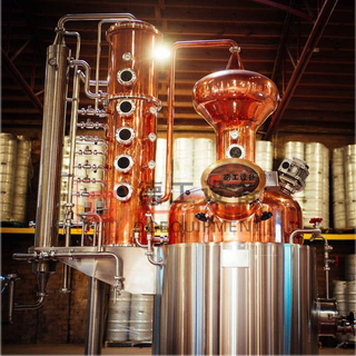 Steam Heating 1000L Distillation Equipment Red Copper Distiller Gin Whisky Rum Near Me