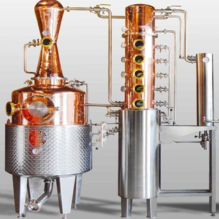 300L 500L Small Distiller Electric Heating Copper Alcohol Distillation Equipment Craft Distillery Machine for Any Type Liquor