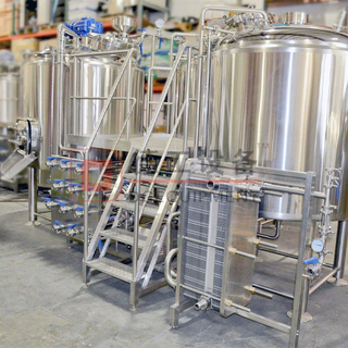 American 2-vessel PLC Control 600L Commercial Beer Brewing System for Beer Production for Sale