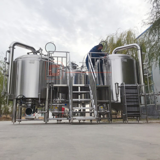 1000 Litre 10HL Commercial Used Beer Brewing System Stainless Steel 304 Combined 3-vessels Brewhouse for Brewpub/restaurant
