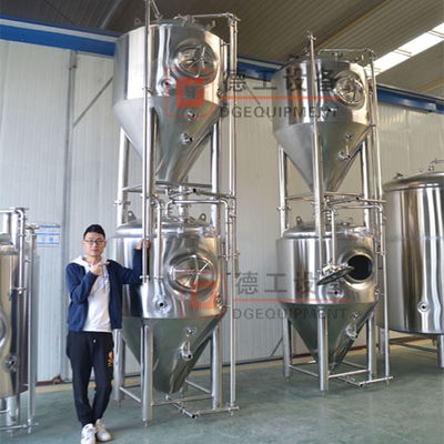 Stainless steel double wall side manhole jacketed beer fermentation tank 500-1000L-2000l popular size