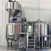 Turnkey 600L/1200L Craft Beer Brewing System 2/3-vessel Mashing System Electric/steam Heating Double-wall Ss304/316 Fermentation Tank Near Me