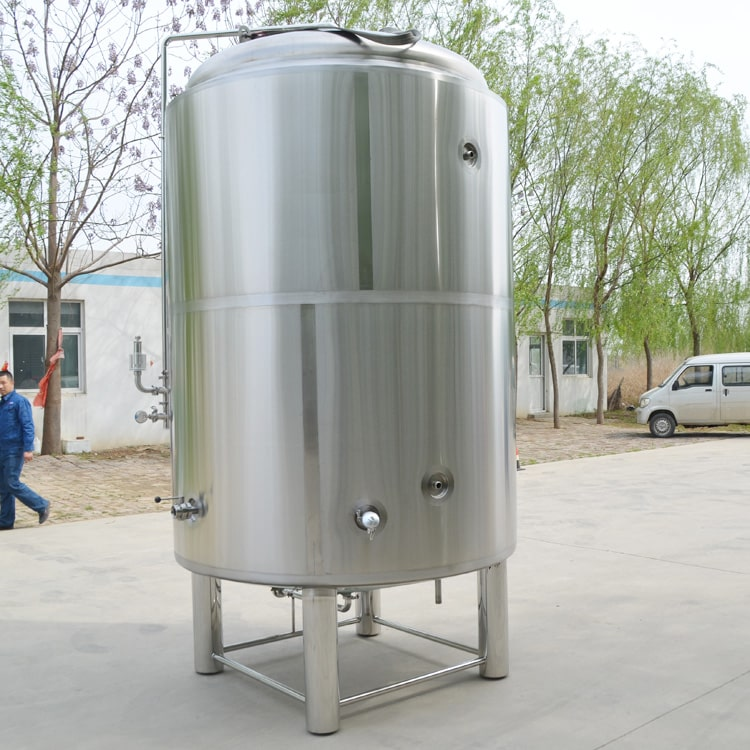 500L 1000L Customized Double Or Single Wall Stainless Steel 304 Conical Vertical Beer Bright Tank