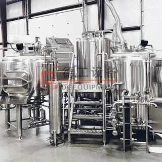 Nano Turnkey 3.5BBL Beer Brewery Equipment 2-vessel Brewhouse System with Electric Heating Conical Dimple Plate Fermenter for Sale