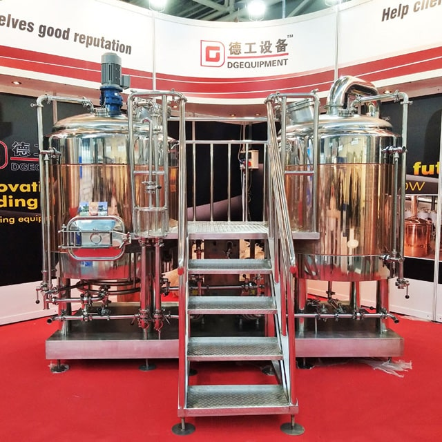 5BBL Alcohol Brewing System Restaurant/hotel Used Combined Micro Brewery Equipment Copper Beer Brewhouse