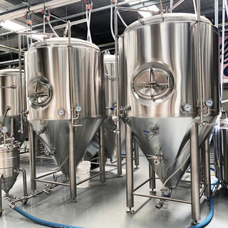 10 BBL Double Layer Stainless Steel 304 Conical Dimple Jacket Isobaric Beer Fermenting System for Sale